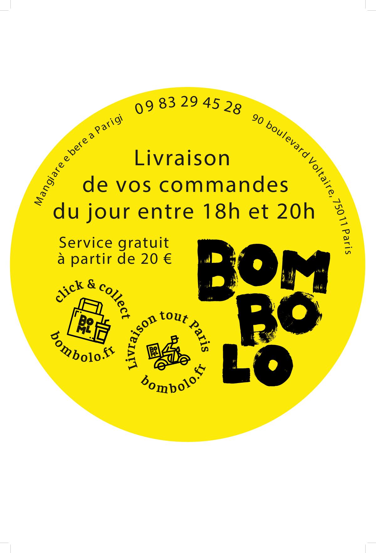 LIVRAISON 18h-20h